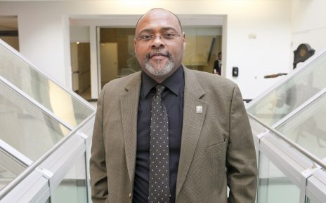 Earnest Perry, MA '95, PhD '98, is associate dean of journalism. Photo by Rob Hill.