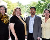 Sarah Bush, Bethany Stone, Newton D'Souza and Betsy Baker