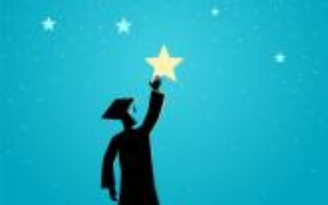 graduate reaching for the stars