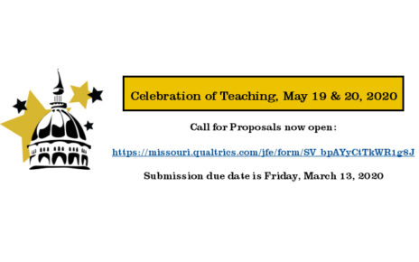 Celebration of Teaching 2020 Call for Proposals is now open. Submissions due by March 13, 2020