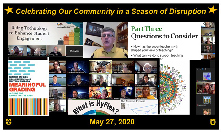 Collage of photos from Celebration of Teaching 2020
